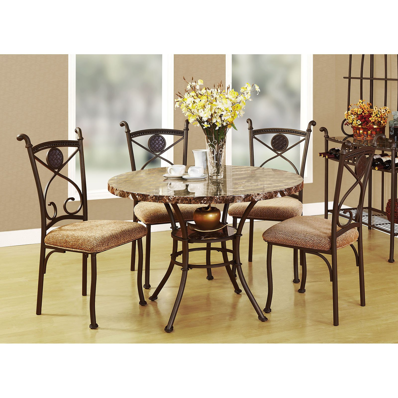 Acme Furniture Kleef 5 Piece Round Dining Table Set  sc 1 st  Walmart & Acme Furniture Kleef 5 Piece Round Dining Table Set - Walmart.com
