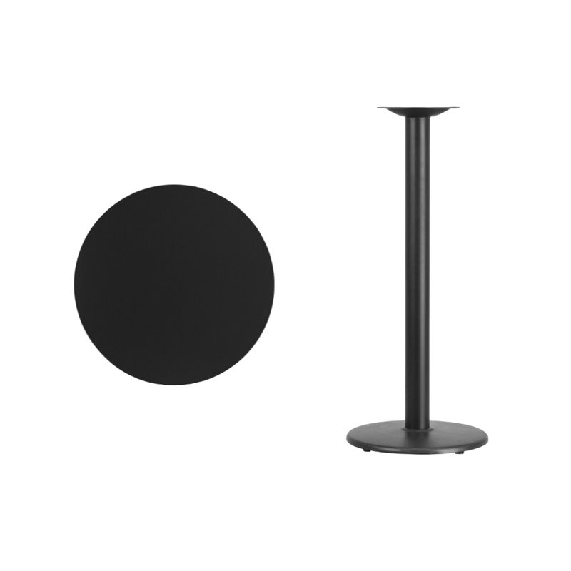 Flash Furniture 24rd Laminate Table Rd Base In Black