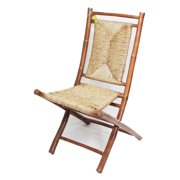 Heather Ann Creations Napili Bamboo Folding Patio Side Chair - Set of 2