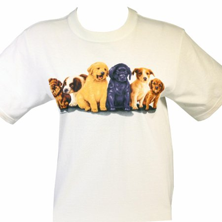 Puppy Dog Lovers Graphic T-Shirt By Anvil Youth Size Medium - Puffy Skirts For Kids