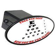 """Free Eye Test, Your Getting Closer 2"""" Oval Tow Trailer Hitch Cover Plug Insert"""