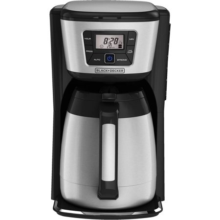 BLACK+DECKER 12-Cup Programmable Coffee Maker with Thermal Carafe, CM2035B - Best Coffee Makers