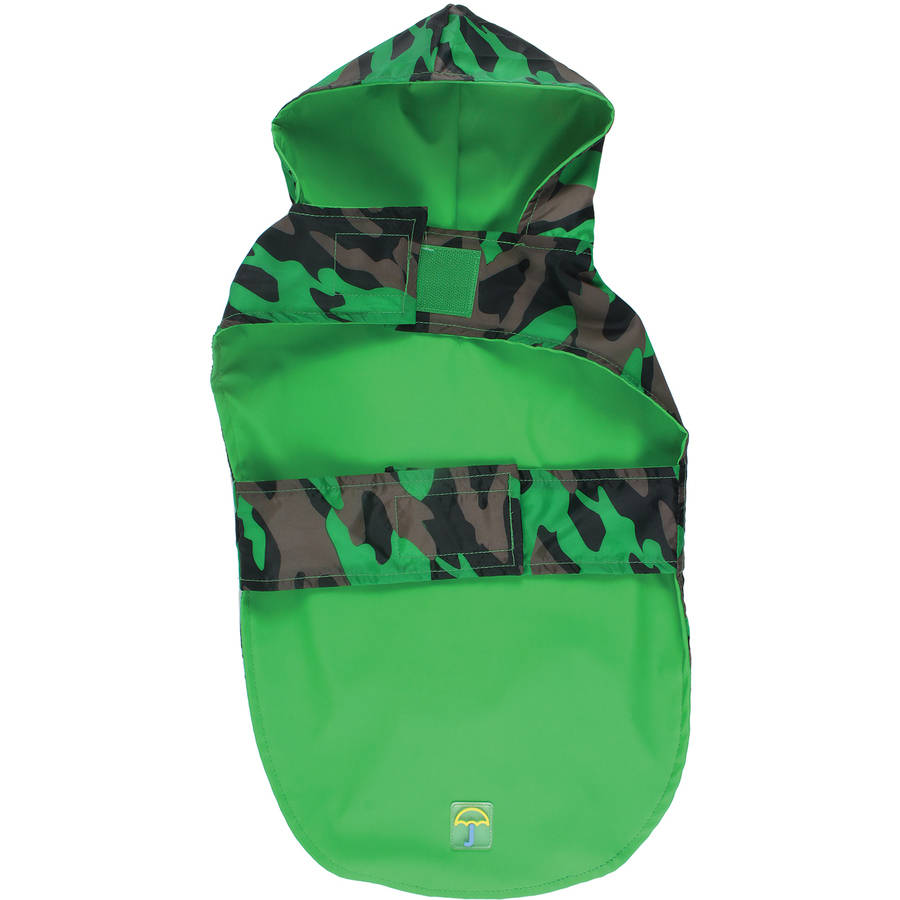"Jelly Wellies Camouflage Raincoat, Medium, 15"", Green"