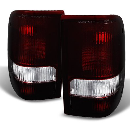 93 97 Ford Ranger Pickup Truck Dark Red Taillights Brake Lamps Replacement Pair