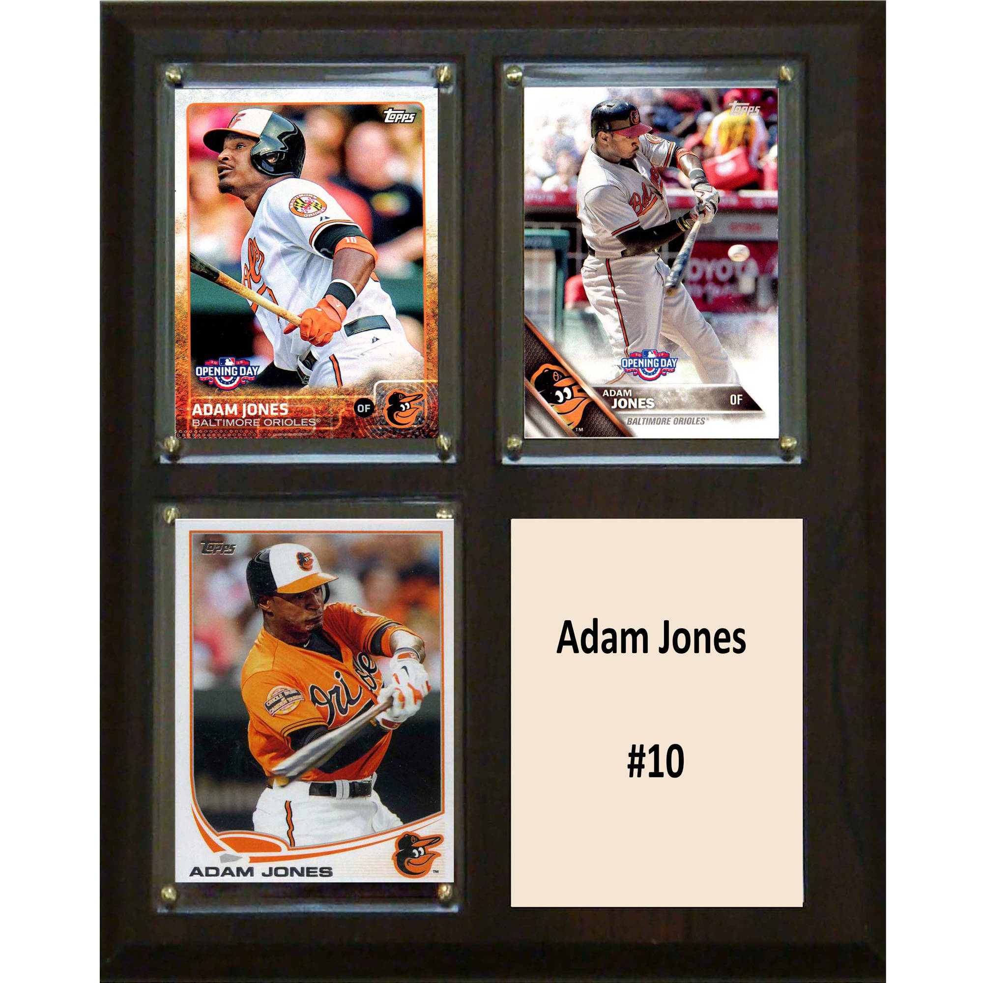 C&I Collectables MLB 8x10 Adam Jones Baltimore Orioles 3-Card Plaque