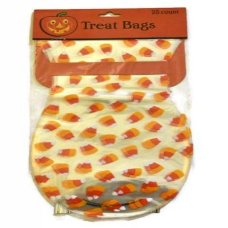 Candy Corn Halloween Cellophane Treat Bags 25 Count (2 Pack)