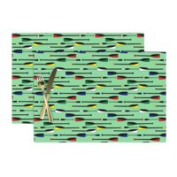 Cloth Placemats Rowing Boating Nautical Oars Olympic Sport Sports Set of 2