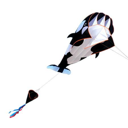 3D Kite Huge Frameless Soft Parafoil Giant Whale Flying Kite