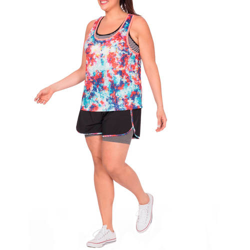 Plus Moda Women's Plus Size 2Fer Short