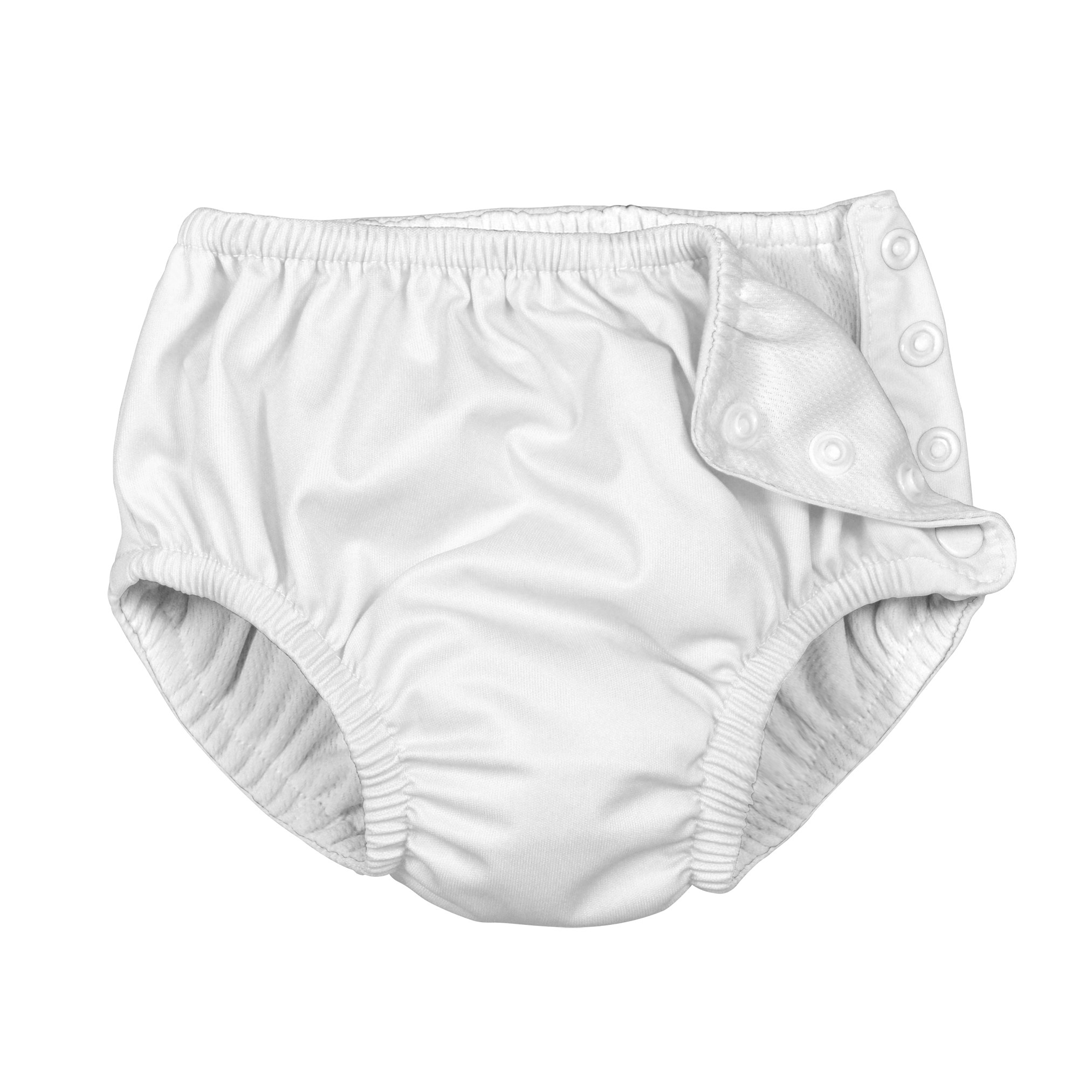 Snap Reusable Absorbent Swimsuit Diaper-White-3T