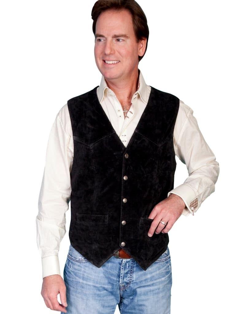 Men's Scully Lambskin Snap Front Vest 507