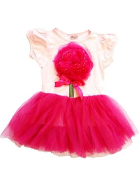 ee004eac42a8a Product Image Wenchoice Pink Hot Pink Organy Flower Tutu Short Sleeved  Dress Girl XL