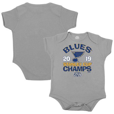 St. Louis Blues Fanatics Branded Newborn & Infant 2019 Stanley Cup Champions Light the Lamp Bodysuit - Heather