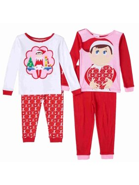 c68f2a37d3 Product Image The Elf On A Shelf Toddler Girls 2 Pack Holiday Pajama 4  Piece Sleepwear Set