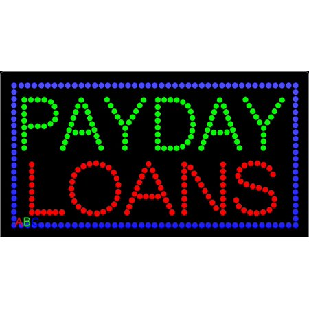 17 X31  Abc Led Signs Animated Payday Loans Led Sign W Flashing Controller