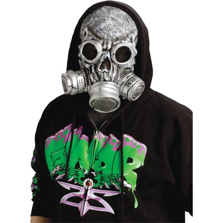 Adult Silver Grey Zombie Gas Mask Gasmask Halloween Costume Accessory - Grey Alien Mask