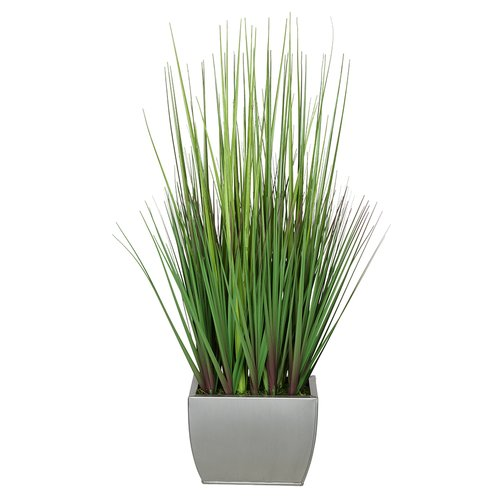 House of Silk Flowers Inc. Artificial 27'' Foliage Grass in Decorative Vase