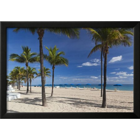 usa florida fort lauderdale fort lauderdale beach framed print wall art by walter bibikow