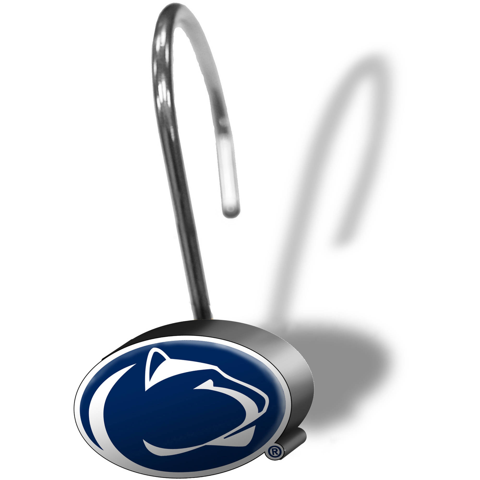 NCAA 12-Piece Shower Curtain Ring Set, Penn State