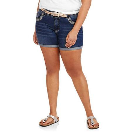 Faded Glory Women's Plus Fashion Denim Shorts