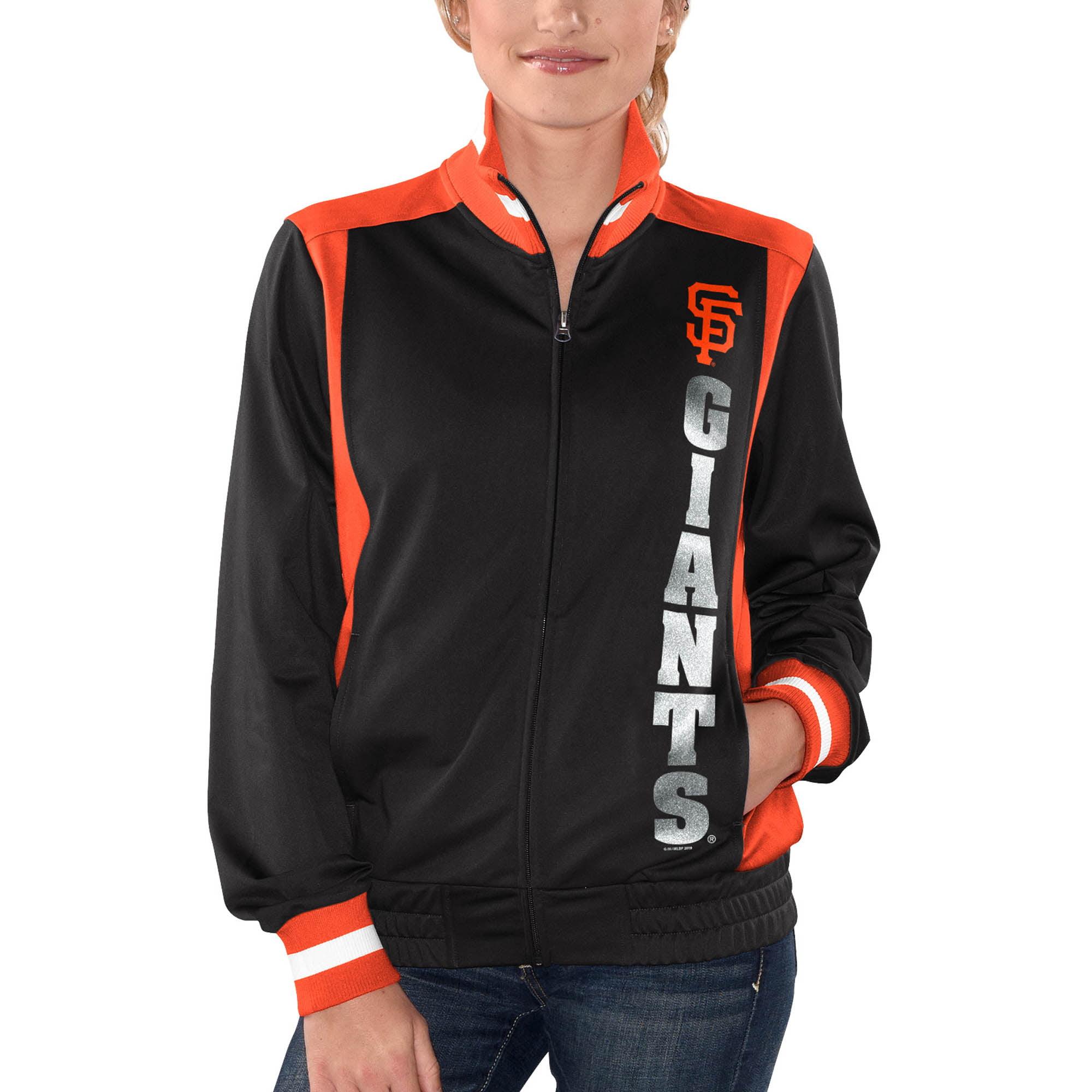 San Francisco Giants G-III 4Her by Carl Banks Women's On Deck Full-Zip Track Jacket - Black
