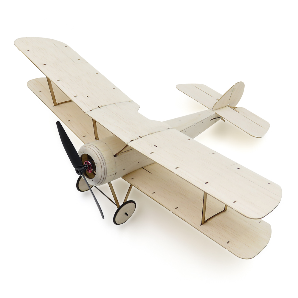 Sopwith Pup Balsa Wood 378mm Wingspan Biplane Warbird Aircraft Model Light Wood Airplane... by