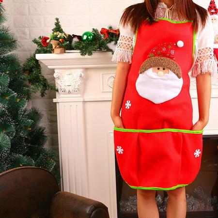 Santa Claus Snowman Kitchen Bib Aprons Costume Apron Funny
