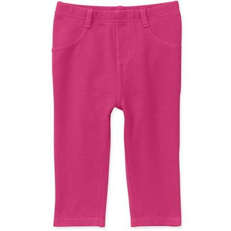 e41d7deb Garanimals - Garanimals Newborn Girl Knit Denim Jeggings - Walmart.com