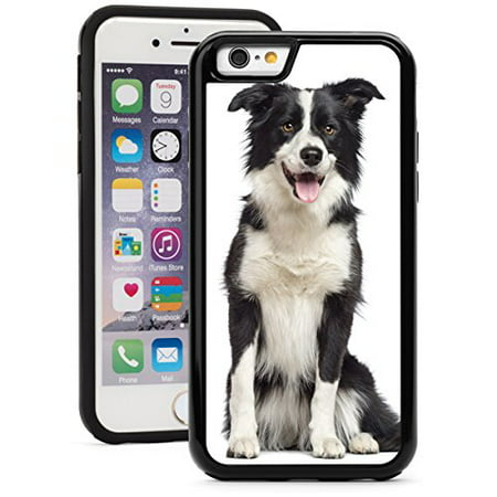 - For Apple iPhone Shockproof Impact Hard Soft Case Cover Border Collie Dog (Black for iPhone 8)