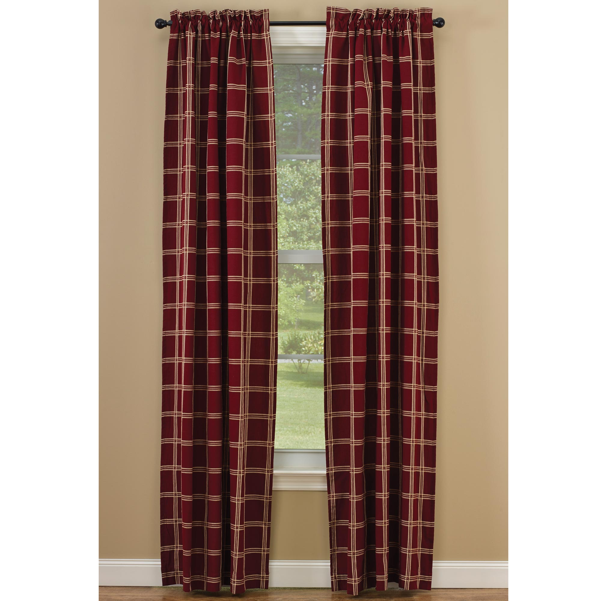 Windsor Star Garnet Lined Curtain Panel