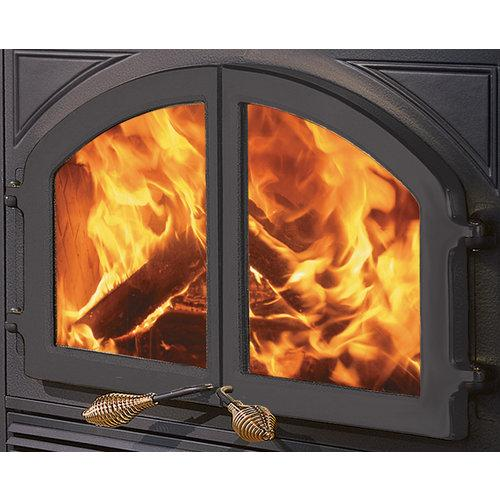 metalbest mhe dd cast iron fireplace doors from the