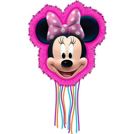Minnie Mouse Pull Ribbon String Pinata - Baby Minnie Mouse 1st Birthday Pinata