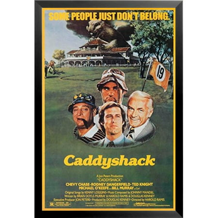 Rodney Dangerfield In Caddyshack (Buy Art For Less 'Caddyshack 1980 Movie Comedy Classic Chevy Chase Rodney Dangerfield Ted Knight Michael O'Keefe Bill Murray Golf Course Country Club' Framed Vintage)
