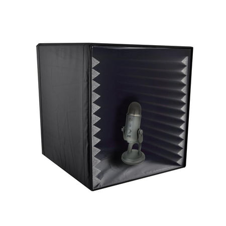 Pyle PSIB27 - Sound Recording Booth Box, Studio Soundproofing Foam Shield Isolation Filter Cube