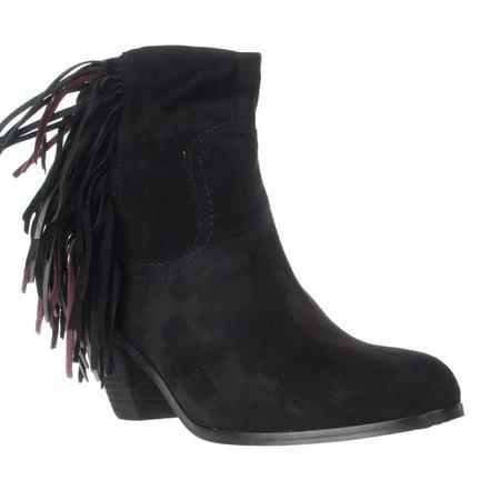 d806f051ce61b0 Sam Edelman - Womens Sam Edelman Louie Fringe Ankle Boots - Black Suede -  Walmart.com