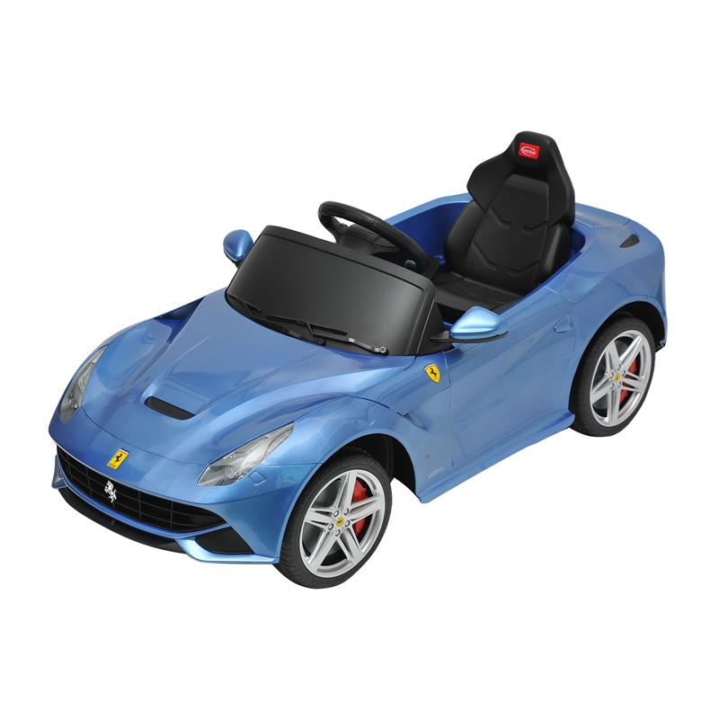Ferrari F12 Kids 6v Electric Ride On Toy Car w/ Parent Remote Control - Blue
