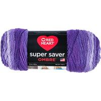 RED HEART Super Saver Ombre Yarn, 10 oz, VIOLET