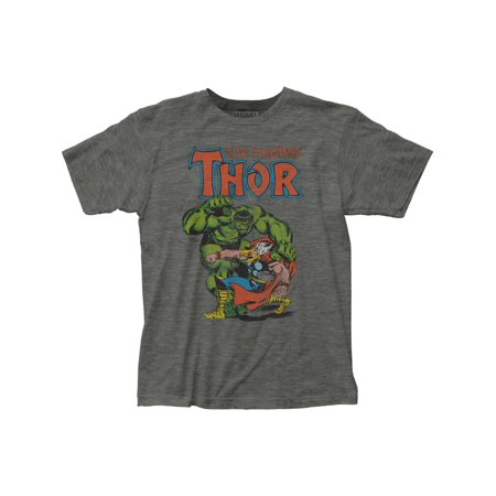 Thor Vs. Hulk Adult Fitted Jersey T-Shirt Tee