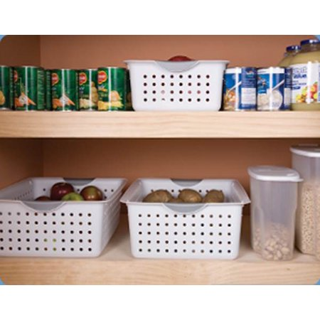 Sterilite Large Plastic Bin Organizer Storage Basket w/ Handles, White (6 Pack) - image 5 of 5