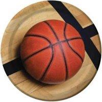 Basketball 'Sports Fanatic' Large Paper Plates (8ct)