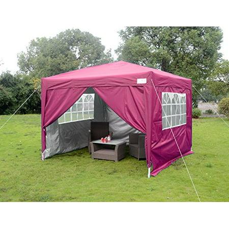 Big Sales!Quictent Silvox 10x10 EZ Pop Up Party Tent Canopy Gazebo 4 Walls W/ Free Carry Bag 100% Waterproof-7 Colors (Pink)