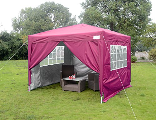 Quictent Silvox Waterproof 8x8u0027 EZ Pop Up Canopy Commercial Gazebo Peak Party Tent Portable Style  sc 1 st  Walmart.com & Quictent Silvox Waterproof 8x8u0027 EZ Pop Up Canopy Commercial Gazebo ...