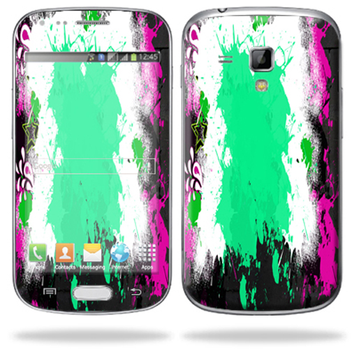 Mightyskins Protective Skin Decal Cover for Samsung Galaxy S Duos S7562 Cell Phone wrap sticker skins Paint Splatter