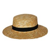 hms men's amish straw hat, natural, one size