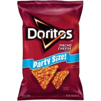 Doritos Nacho Cheese Flavored Tortilla Chips, Party Size, 15 oz Bag