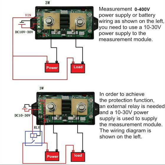 JUNTEK DC 0.01-100V 0.1-300A Multifunctional Wireless Digital Bi-directional on