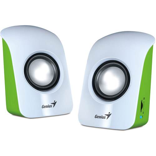 Genius SP-U115 1.5W Stereo USB-Powered 2.0 Speaker, Multi-color