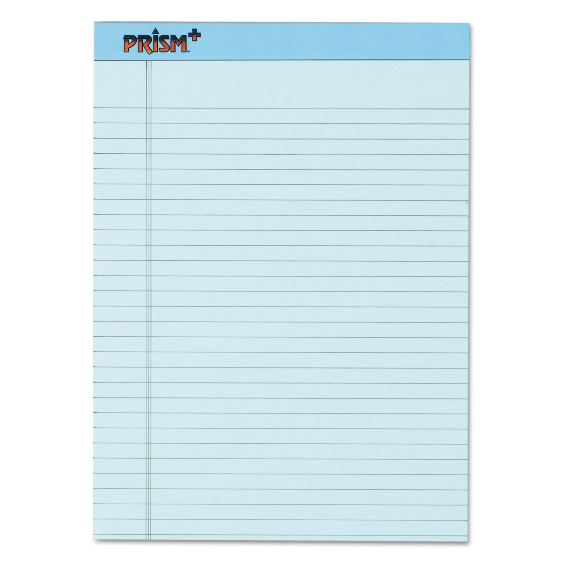TOPS Prism Plus Colored Legal Pads, 8 1/2 x 11 3/4, Blue, 50 Sheets, Dozen