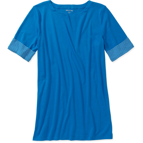 White Stag Women's Plus-Size Boatneck Top