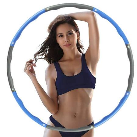 Reactionnx Weighted Exercise Hula Hoops for Adults,Beginner Hoop, Hula Hoop Adjustable, Hula Hoops Bulk, Professional Soft Fitness Hula Hoops ()